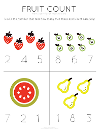 template tuesday fruit count u003e work on counting and number