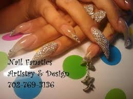stiletto nail designs glitter glow in the dark and clear acrylic