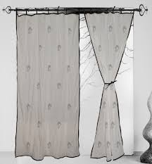 Cotton Tie Top Curtains by 100 Cotton Curtain Ganesha Hand Block Printing Black Piping Tie