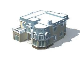villa home design 3d model 3ds max files free download modeling