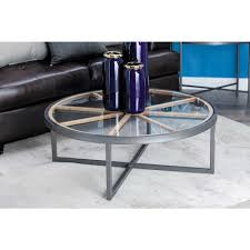 modern 47 in and glass coffee table 44399 home depot