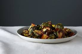 roasted brussels sprouts with pears and pistachios recipe on food52