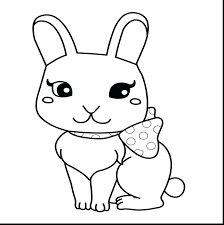 cute rabbit playing soccer coloring page easter bunny pages hard
