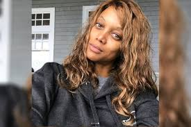 tyra banks shares makeup free selfie