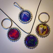 bottle cap necklaces disney descendants art long live evil bottlecap keychain