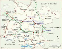 map of mexico cities clickable map of guanajuato state mexico guanajuato