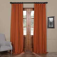 Orange Thermal Curtains Exclusive Fabrics Persimmon Bellino Blackout Curtain Panel Free