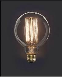 edison style filament light bulb by kikkerland science mall