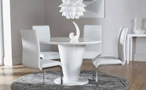 Round Dining Table Set For 6 White Round Dining Table Set Rounddiningtabless Regarding Kitchen