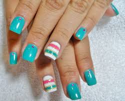 nails design turquoise beautify themselves with sweet nails