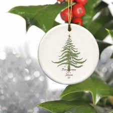 personalized vintage christmas tree christmas ornament