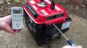 stormcat 900 watt portable generator voltage adjustment youtube