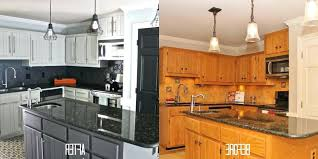 Painted Black Kitchen Cabinets Before And After Chalk Paint Kitchen Cabinets Gray Cream Color Gallery Blue Painted