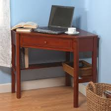Small Corner Desk With Drawers Shop Tms Furniture Transitional Cherry Corner Desk At Lowes