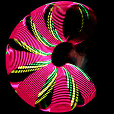 helix led hoop diy programmable led hula hoop do it your self