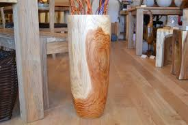 wooden floor vase large