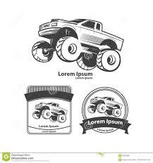 bigfoot monster truck t shirts monster truck stock vector image 60890280