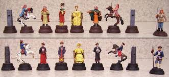 Chess Piece Designs by Lionheart Designs International Qing Dynasty Chess Set Pieces