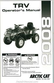 2008 arctic cat trv owners manual