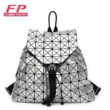 designer rucksack damen mode frauen kordelzug rucksack diamantgitter geometrie gesteppte