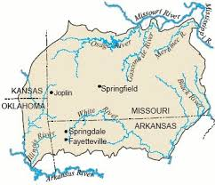 ozarks map ozark aquifer