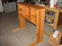 mesmerizing build wooden diy bookcase headboard plans plans