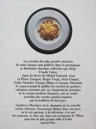 livre cuisine italienne gualtiero marchesi la cuisine italienne réinventée 1
