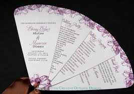 wedding ceremony fan programs fan style wedding program wedding fan programs