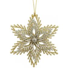 4 gold silver starburst ornaments set of 2 3012550