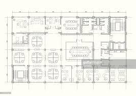 office building plan blueprint vector art getty images