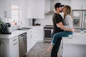 Kitchen Cabinets Kamloops Sandy U0026 Ben In Home Couples Session Kamloops Photographer