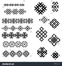 set black white geometric designs 2 stock vector 94243558