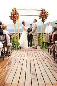 costa rica destination wedding costa rica destination wedding coral pink green orange decor