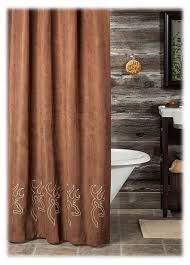Outdoors Shower Curtain by Browning Buckmark Embroidered Suede Shower Curtain Bass Pro