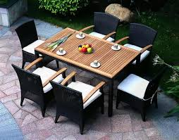 impressive 7 piece wicker patio dining set hampton bay spring