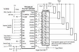 tpic46l01 circuit schematic for fuel injector control applications