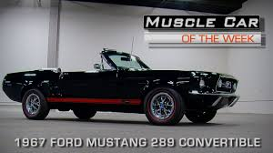 Mustang 1967 Black Muscle Car Of The Week Video Episode 162 Triple Black 1967 Ford