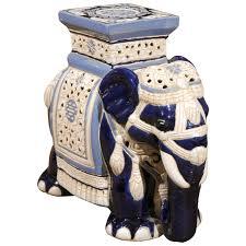 Porcelain Elephant Petite Elephant Garden Stool At 1stdibs