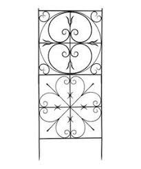 add pieces to wrought iron trellis plus the wrought iron shelves