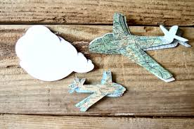 Map Paper Vintage Map Paper Airplane Confetti In Small And Large Sizes