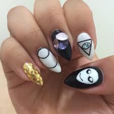 pointed nail designs choice image nail art designs