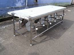 stainless steel table and chairs steel dining table set