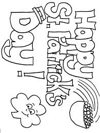 st patricks day coloring pages website inspiration saint patrick