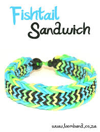 bracelet looms bands images Fishtail sandwich loom band bracelet tutorial jpg