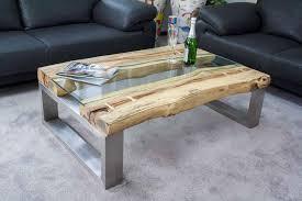 Ideen Wohnzimmertisch Couchtisch Glas Holz Edelstahl Rheumri Com