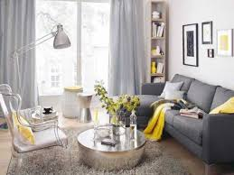 Curtains In A Grey Room 29 Stylish Grey And Yellow Living Room Décor Ideas Digsdigs
