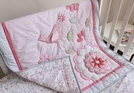 giol me num pink birds pattern baby bedding lovely cotton