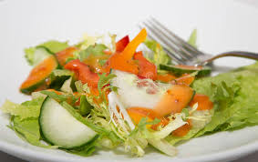 field green salad with french dressing stock photo image 34434420
