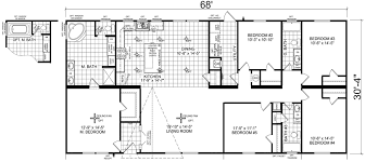 Floor Plans For Mobile Homes Double Wide Grayford 32 X 68 2063 Sqft Mobile Home Factory Expo Home Centers