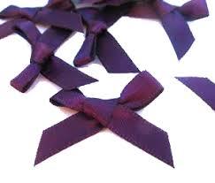 purple satin ribbon plum satin ribbon 6mm bows